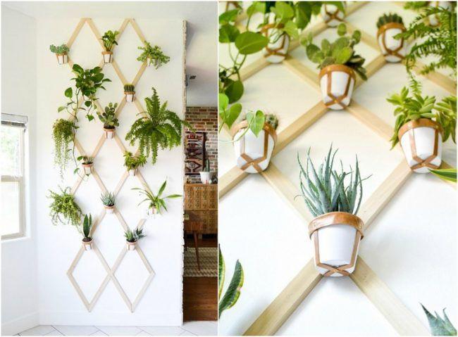 Vertikale Bepflanzung Pflanzenwand Selber Machen Wohnzimmer In 2019
