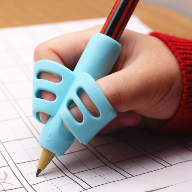 Details about  /TwoFinger Pencil Grip Silicone Baby Learning Writing Correction Tool 8PCS//Box