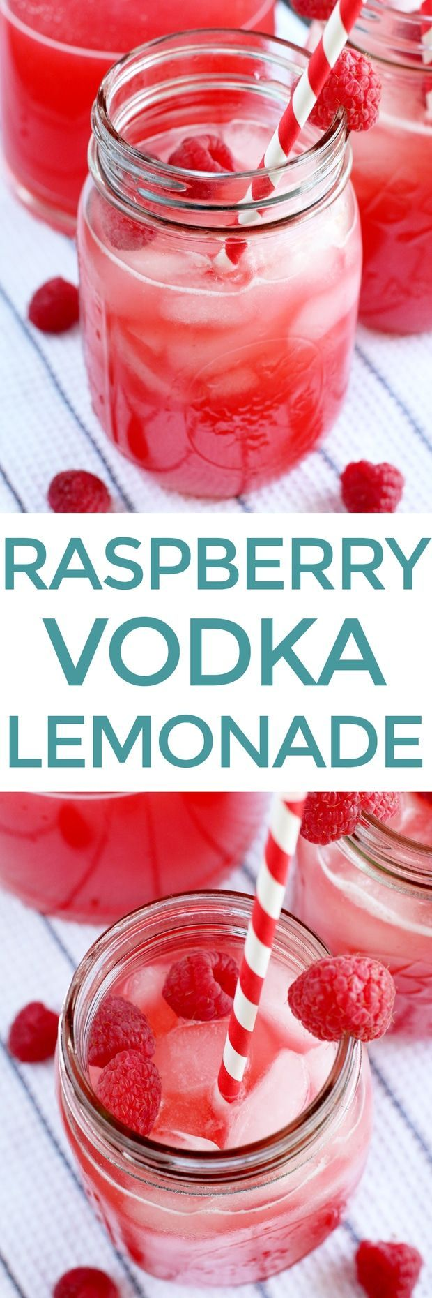 Raspberry Vodka Lemonade #raspberryvodka