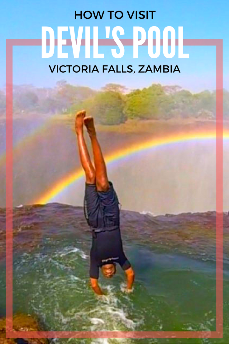 Situated at the edge of Victoria Falls is Devil's Pool- the world's ultimate infinity pool! Here's everything you need to know to conquer this extreme adrenaline activity in Zambia, Africa!