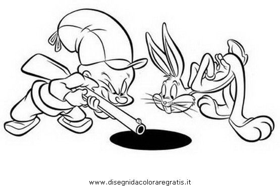Elmer Fudd Coloring Pages Bugs Bunny Coloring Page And Elmer