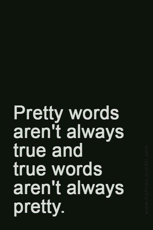 Truth, pretty