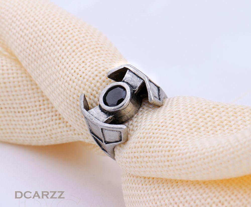 2016 nuovi uomini di star wars darth vader anello combattente con rhinstone titanium anello in acciaio steampunk gioielli film