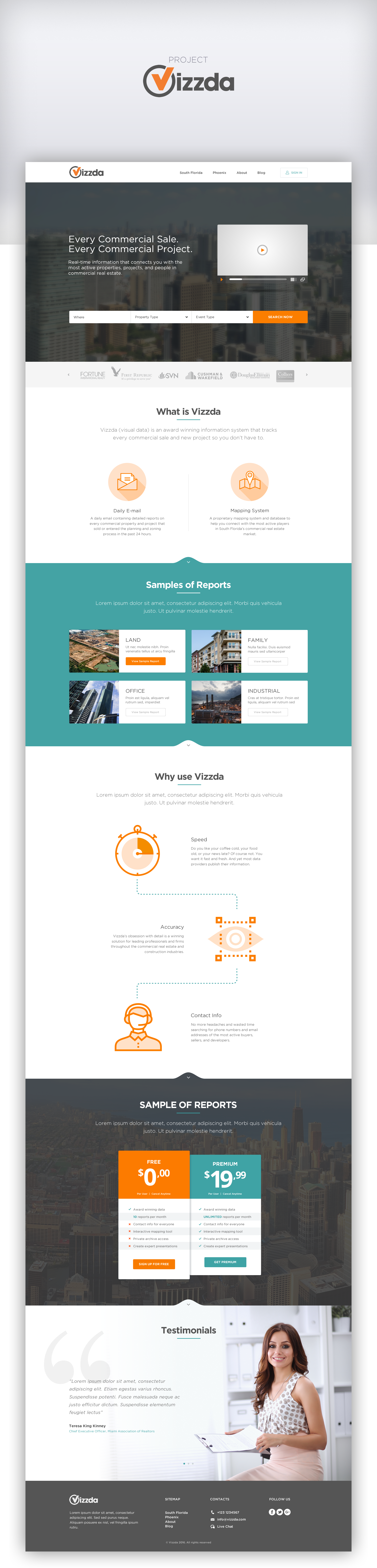 Designs | Homepage Revision for National Data Provider | Web page ...