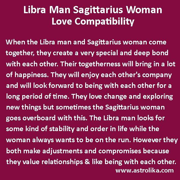 Libra Man and Sagittarius Woman Love Compatibility