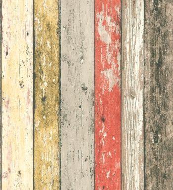 Papel pintado tablas madera desgastada multicolor 8951-27 | 895127