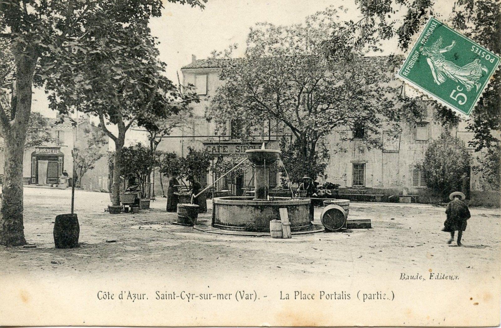 Carte Postale Le Var Saint Cyr Sur Mer La Place Portalis Postale Carte Postale Le Var