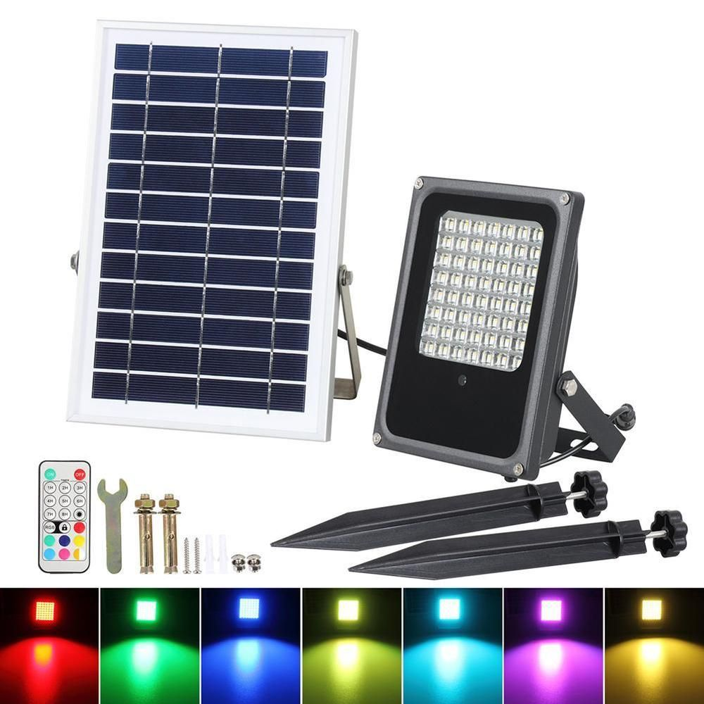Outdoor Remote Control Solar Lights Ip65 Garden Wall Decor