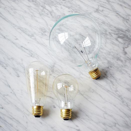 Edison Light Bulb, Tall, 40 Watt, Clear