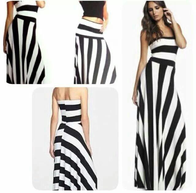 Maxi dress folds down to a skirt