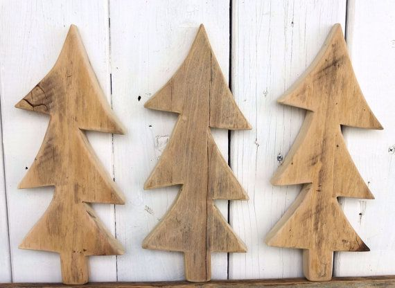 Wood Christmas Tree Primitive Crafts Country By SalvageandBloom