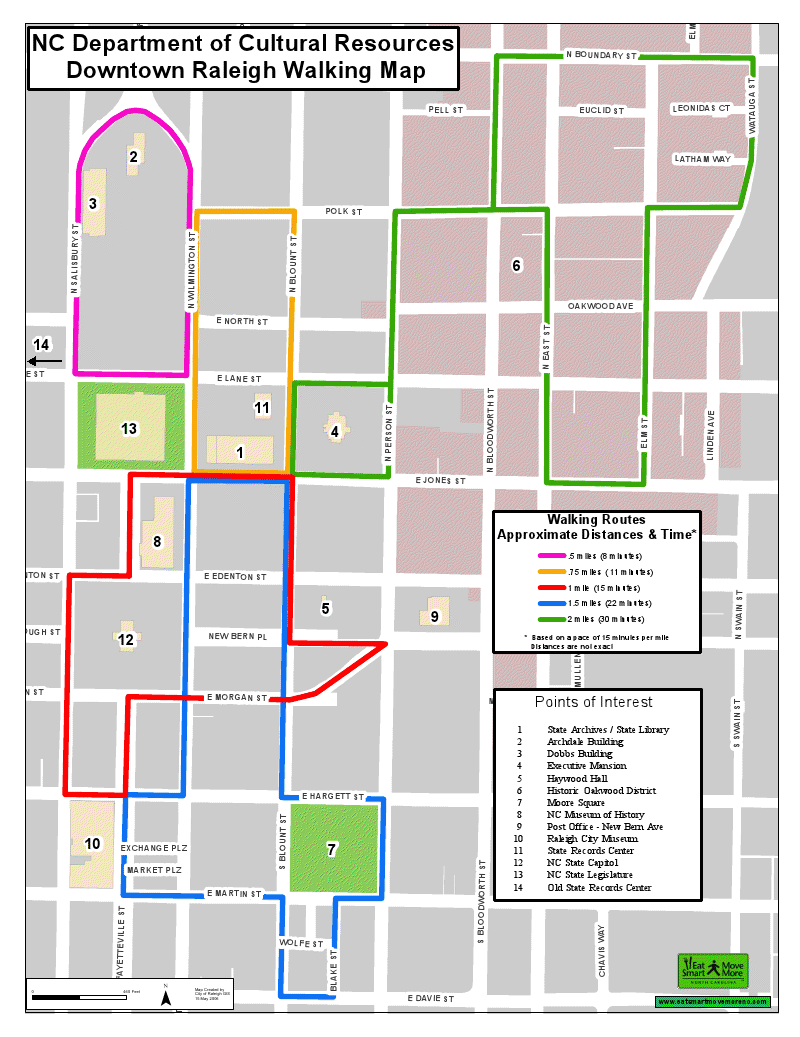 Downtown Raleigh Walking Map. Want to see more creative ...