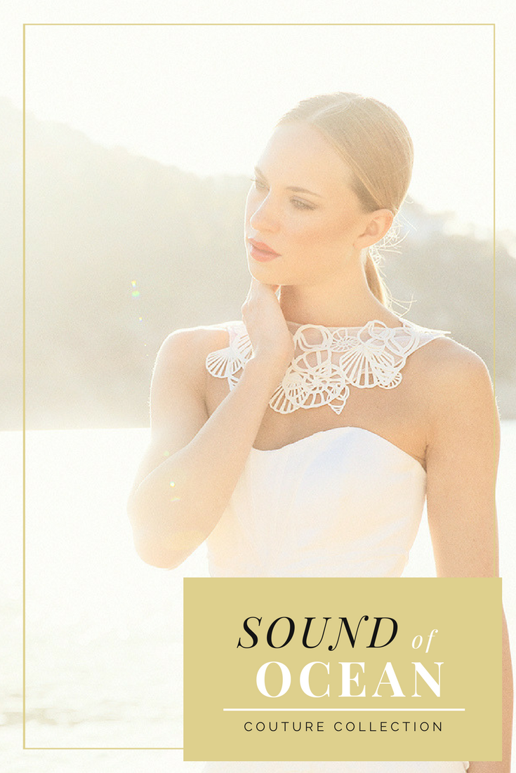 Sound of Ocean - White   Couture and Detail
