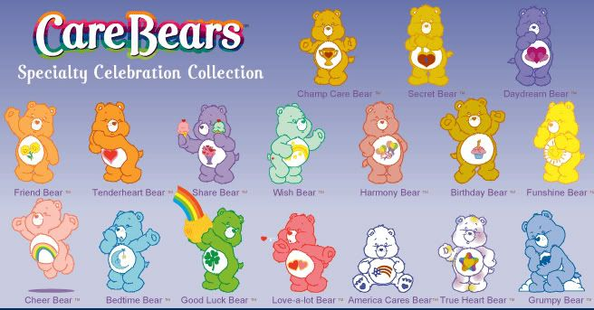care bear characters list - Google Search | Care Bears - photo#20