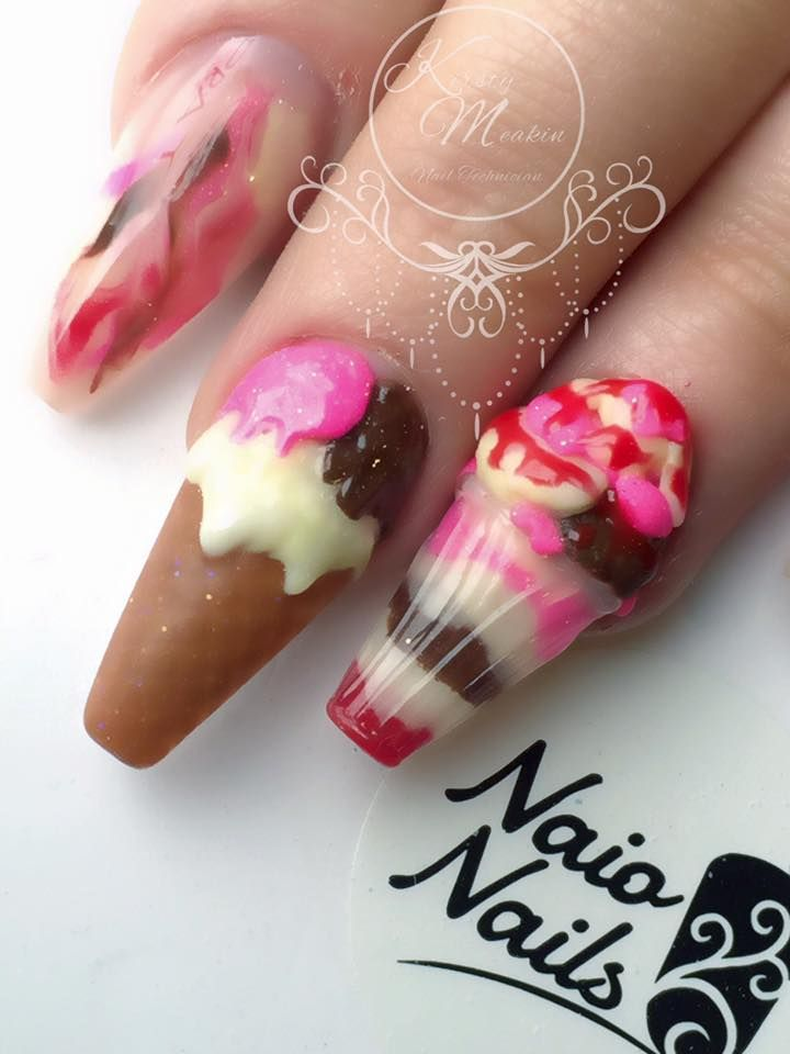 Ice Cream Summer Nails By Kirsty Meakin Naio Nails Nails Ice