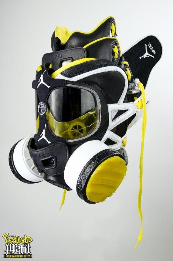 super popular 1c029 a4604 Nike + Air Jordan Wu Tang Tribute Gas Masks by Freehand Profit Ⓙ ⍣∙₩ѧŁҝ!₦ǥ∙⍣