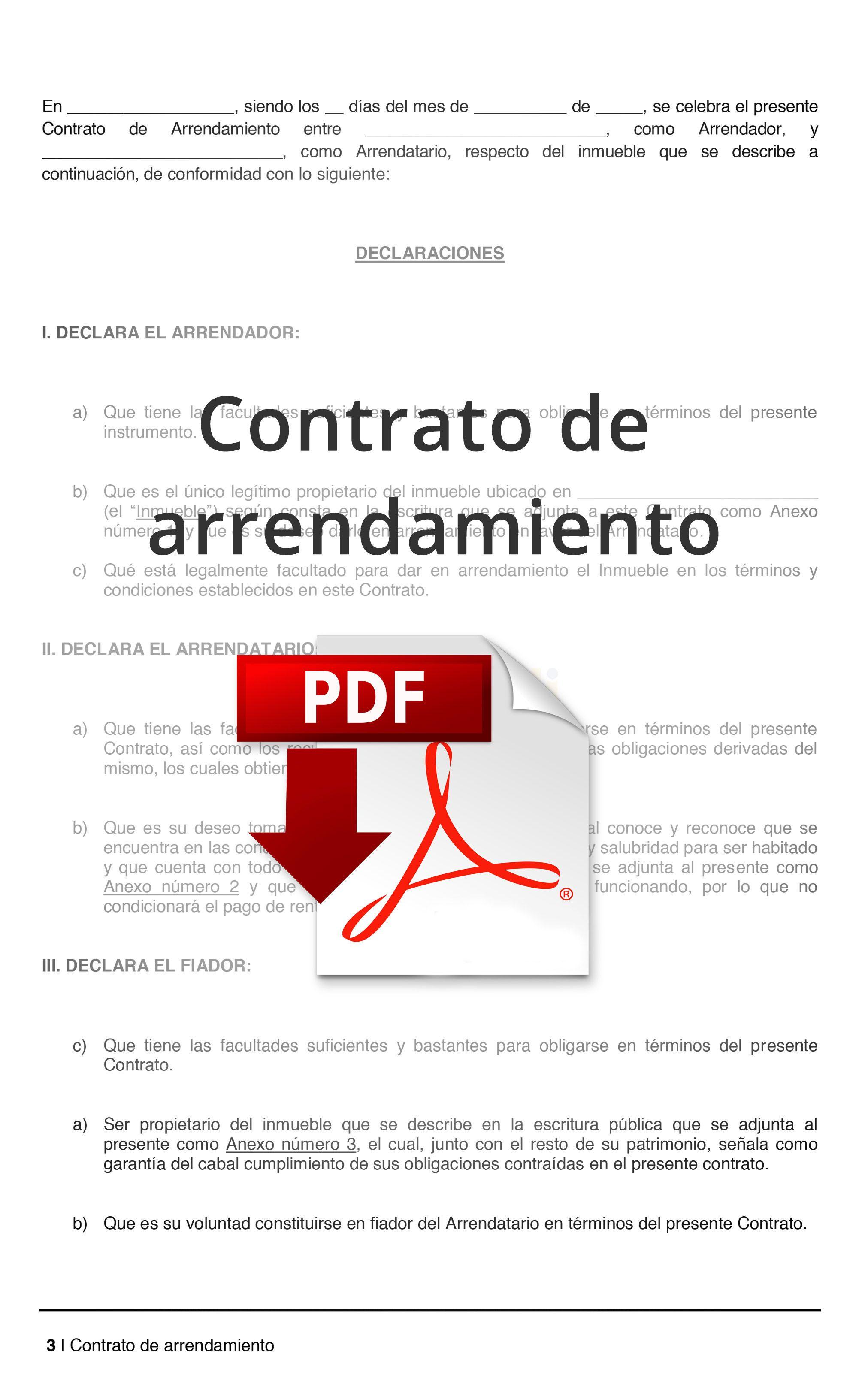 Contrato De Arrendamiento Casa Habitacion Contrato De