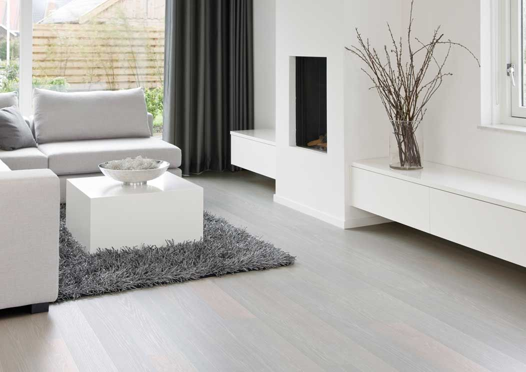 Off White And Grey Fumed Wood Floors Of Light Wood Or Simulated Wood Floors And What Are The White Hardwood Floors White Laminate Flooring House Flooring