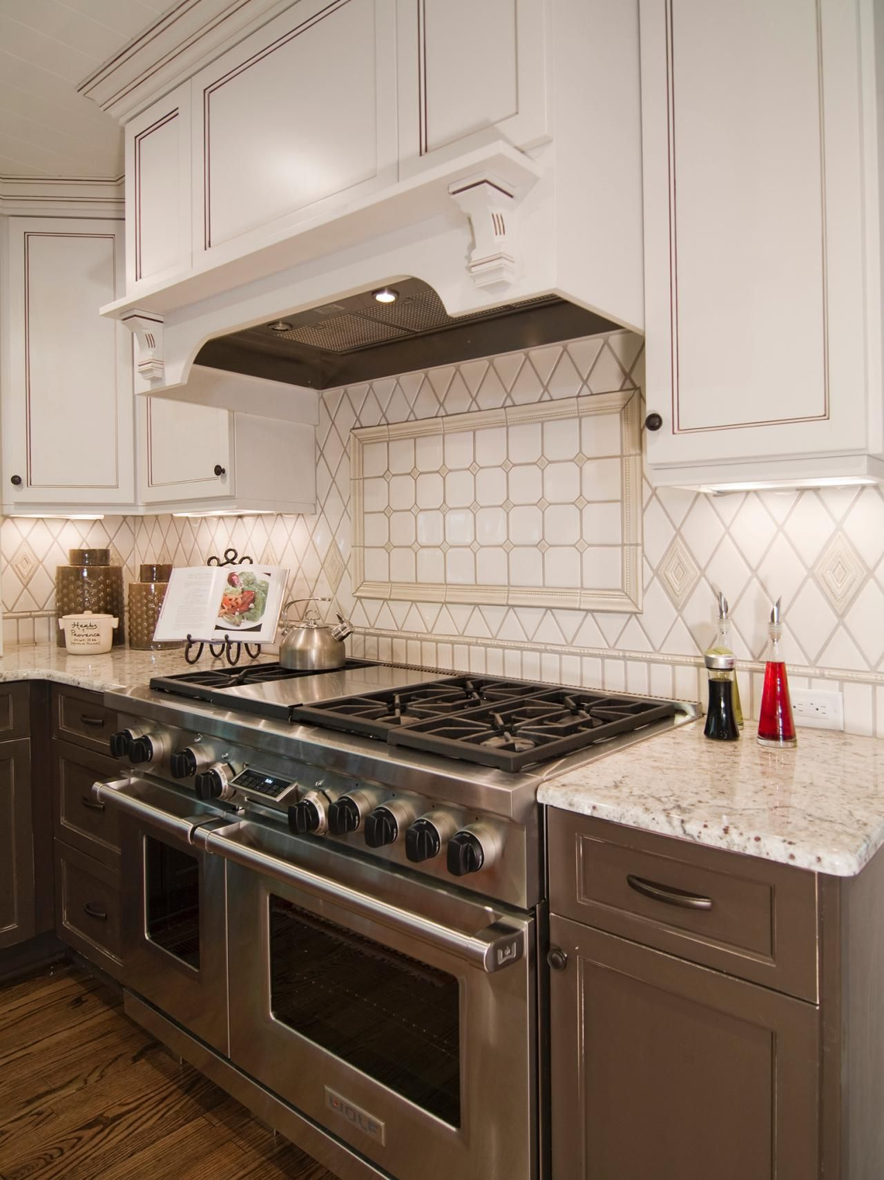 Taupe Kitchen Stunning Design That Has Diamond Tile