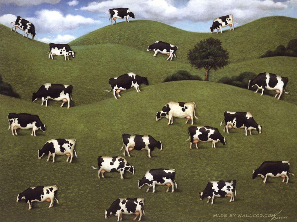 Lowell Herrero Cows Cows Cows Wallpapers 1024x768 No 12 Desktop Wallpaper Farm Animal Paintings Cow Wallpaper Cow Painting