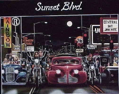 David Mann   Art  Poster Sunset Blvd