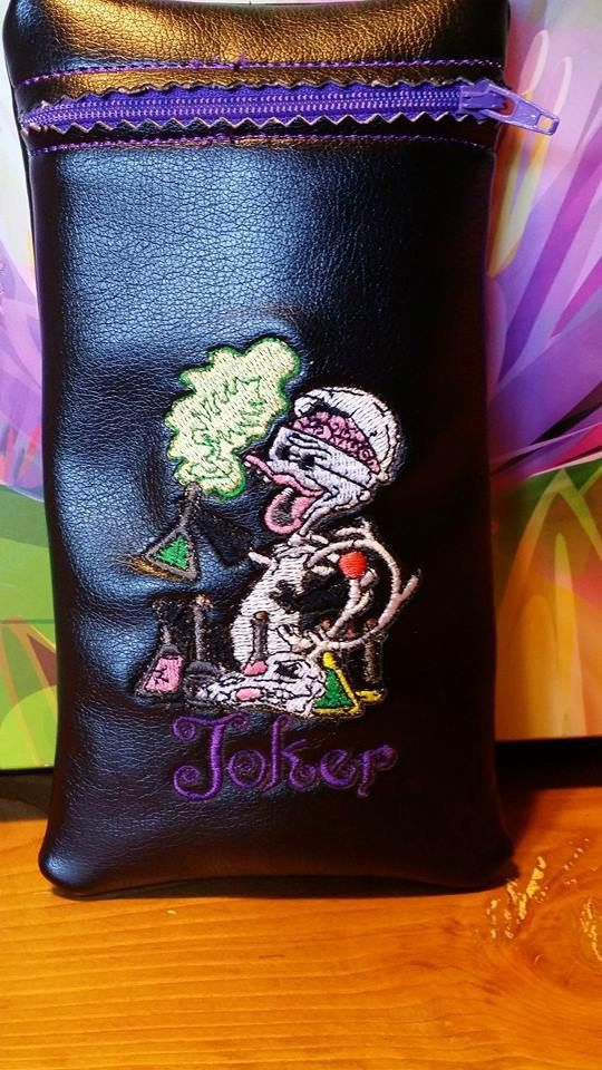 custom made joker pipe pouch by redneckragscreations on etsy - Nightmare Before Christmas Pipe