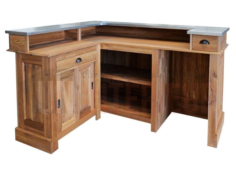 Bar D Angle 180cm X 140cm En Chaªne Massif Chr Meuble Bar Decoration Interieure Bar Meuble Bar Comptoir