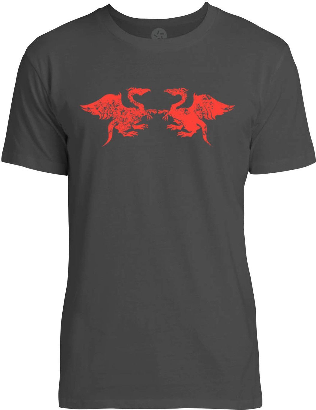 Dragons (Red) Mens Fine Jersey T-Shirt