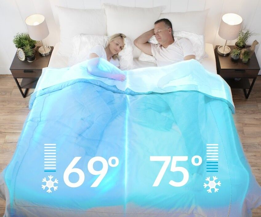 V2 Dual Zone Climate Comfort System For Couples Queen Size Bed