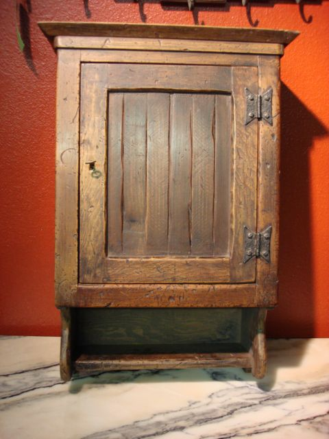 Antique French Rustic Medicine Cabinet Wall Cabinet. I would love this for  my bathroom! - With No Bathroom Of My Own, A Recovered Vintage Medicine Cabinet