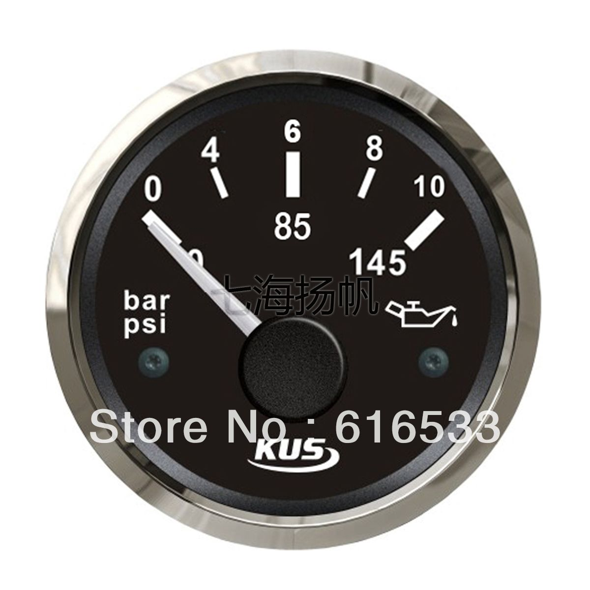 52mm 12 24v Black Oil Pressure Gauge Marine Car Rv General Yacht Motor Boat Accessories Free Shipping 79 28 Motor Boats Marine Oil Gauges