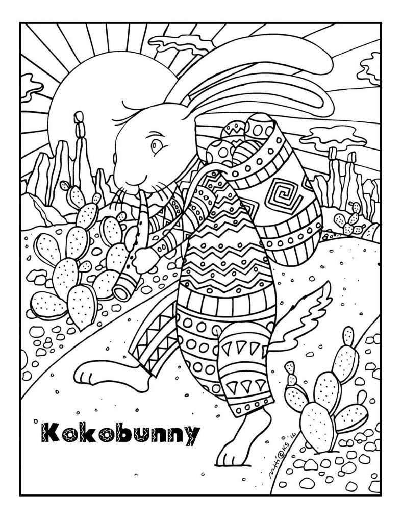 Cute and Fun Easter Bunny Coloring Pages | 101 Coloring ...