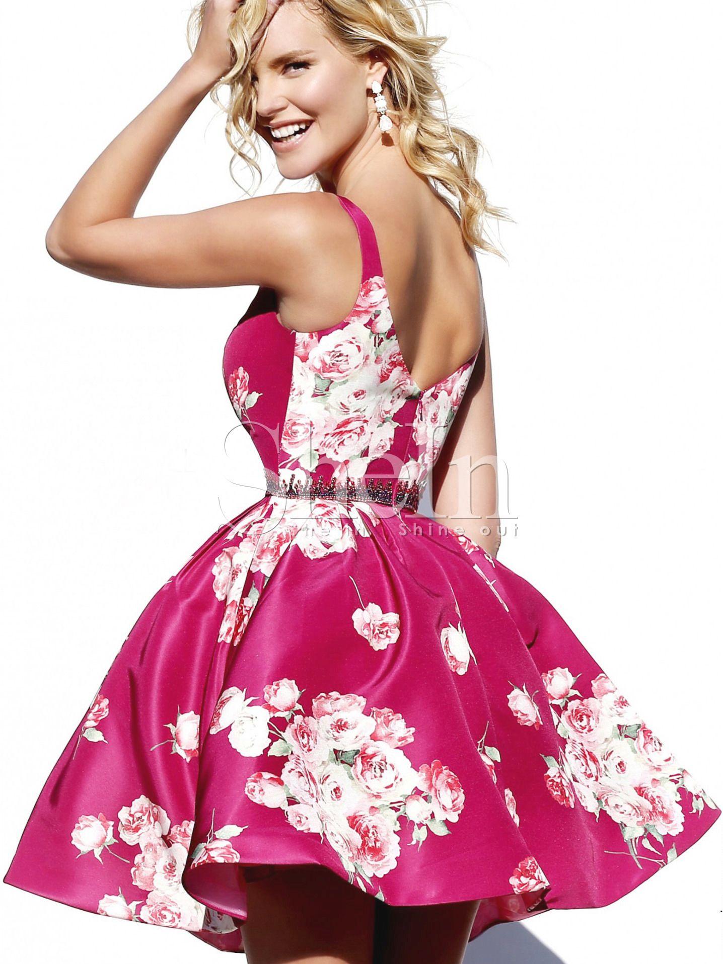 Vestido flores con vuelo cami -rosa | Pinterest | Patrones y Vestiditos