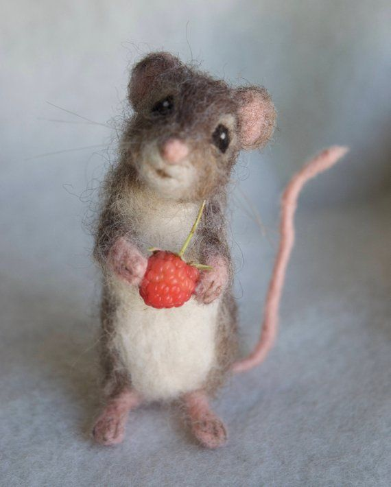 Needle Felted Mouse Poseable Realistic Life Sized Filzmaus Nadelfilztiere Und Maus Basteln