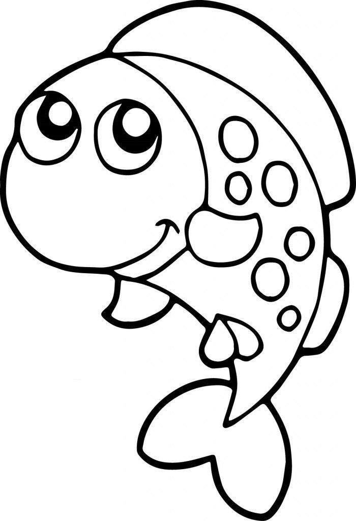 Fish Coloring Pages For Kids Preschool And Kindergarten Fish Coloring Page Fish Drawing For Kids Kindergarten Coloring Pages