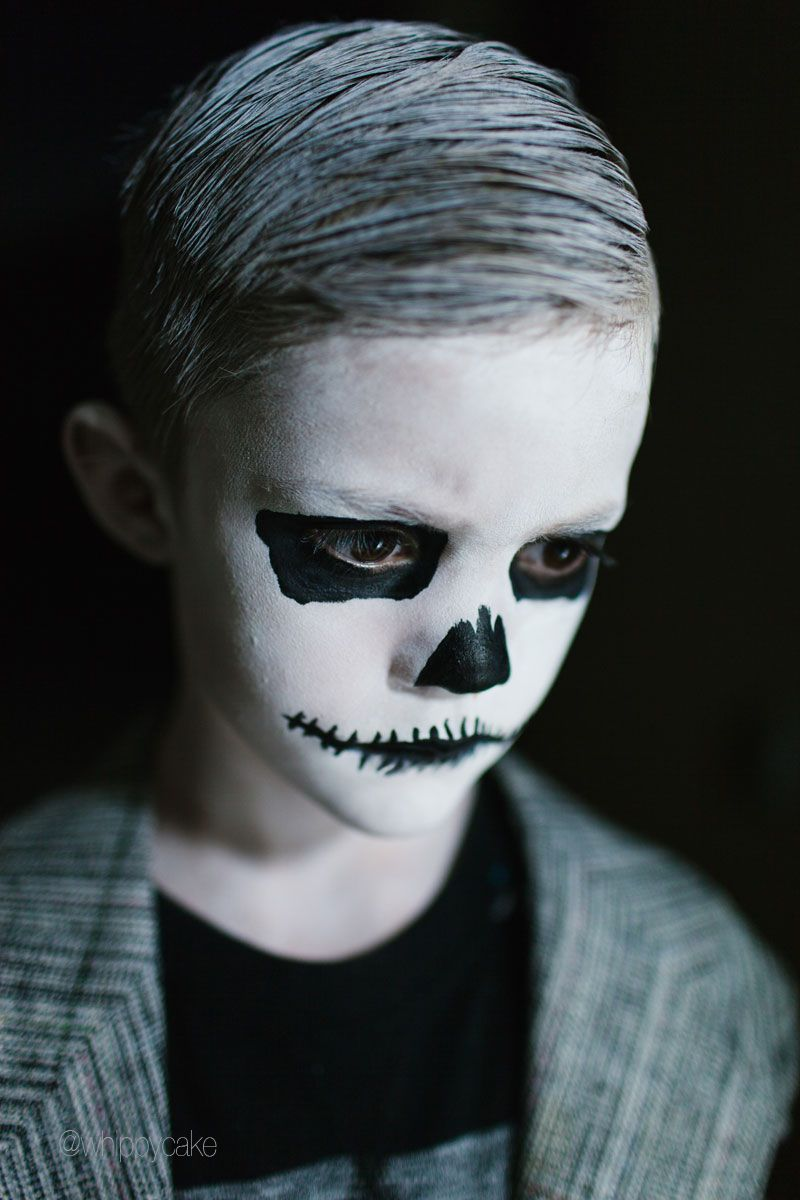 Professor Bones Costume Halloween makeup for kids, Boy