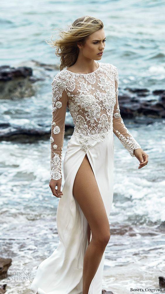 vestidos de novia para bodas en la playa | fiestas de novias