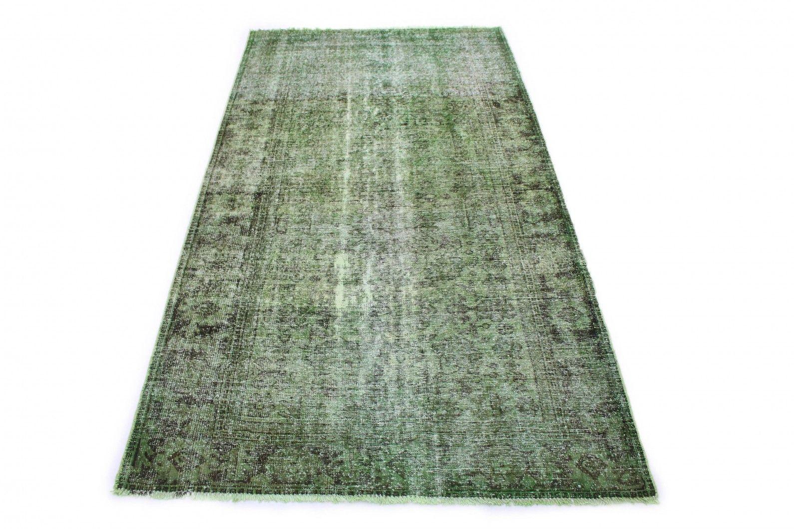 Vintage Teppich Grün In 240x130 Vintage Teppiche Teppich Grün Teppicharten