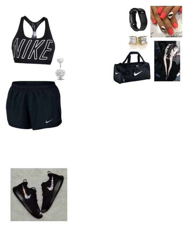 """Leg Workout Day"" by cjbaum ❤ liked on Polyvore featuring interior, interiors, interior design, home, home decor, interior decorating, NIKE, Bling Jewelry and Fitbit"