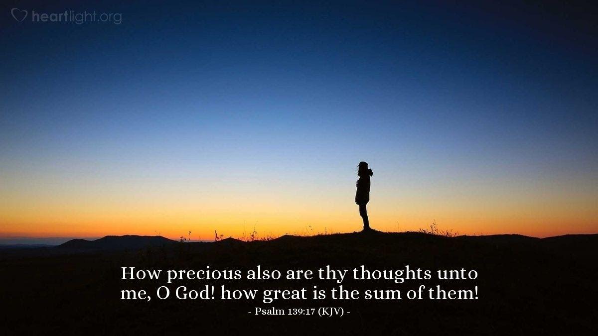 Illustration of Psalm 13917 Psalms, Psalm 139, Daily wisdom