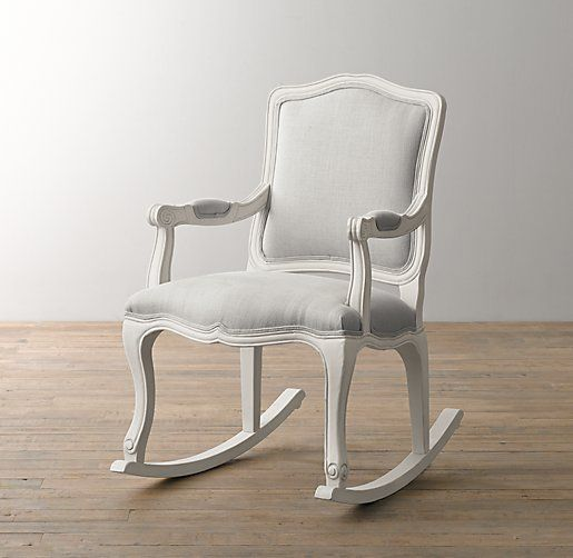 French Vintage Upholstered Rocker I Have To Get This For Gianna S Nursery