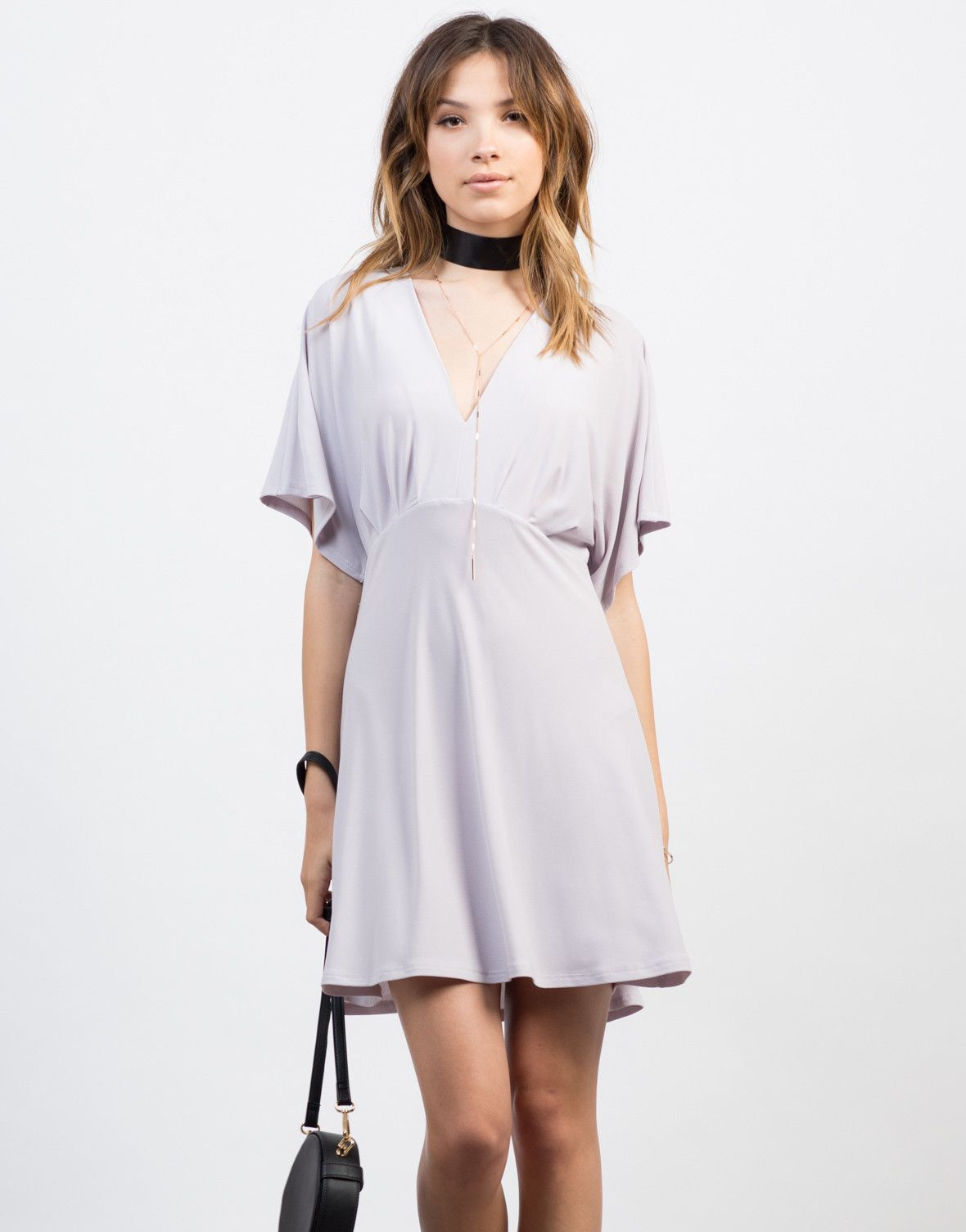 Flowy tied back dress lilacs kimonos and shorts