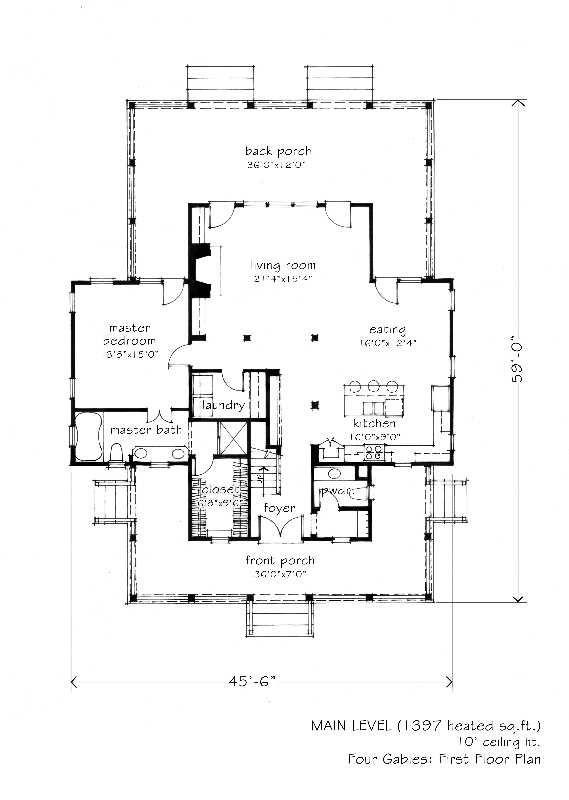 2,341 Sq Ft \u2022 Four Gables L Mitchell Ginn  Associates home - Construire Sa Maison Plan
