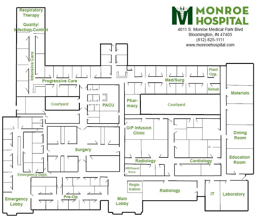 Click on the map below to view a hospital map.   Hospital ...