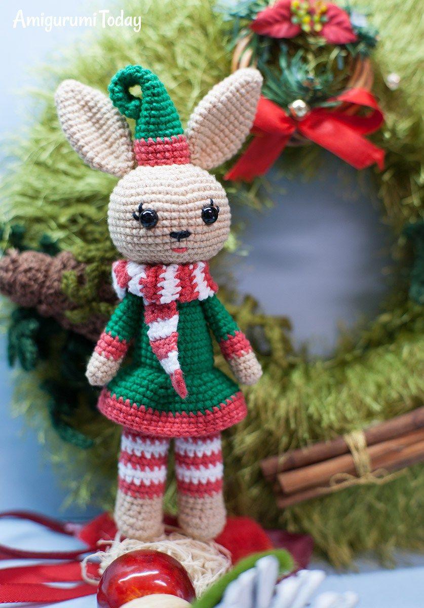 Kostenlose Weihnachten Bunny Amigurumi Muster | Elke Anna ...