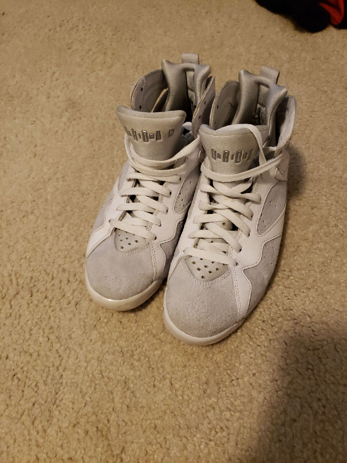 White and grey Jordan 7's Good/fair condition I bought