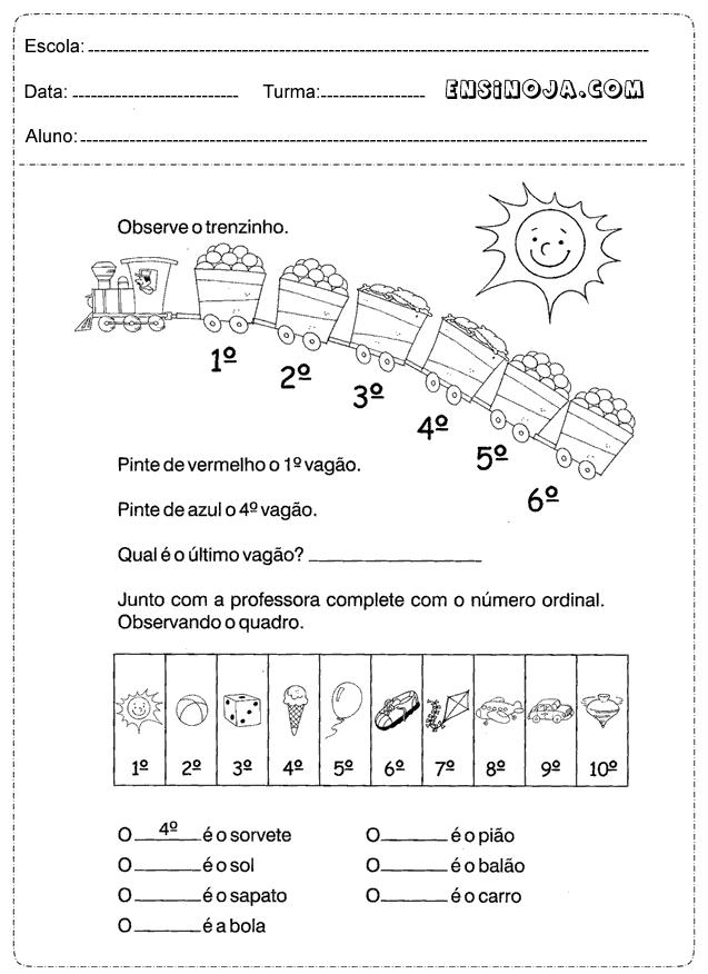 As Atividades De Matemática Para Os Alunos Do 2 Ano Do Ensino