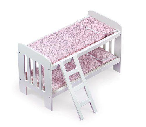Badger Basket Doll Bunk Beds With Ladder Fits American Girl Dolls