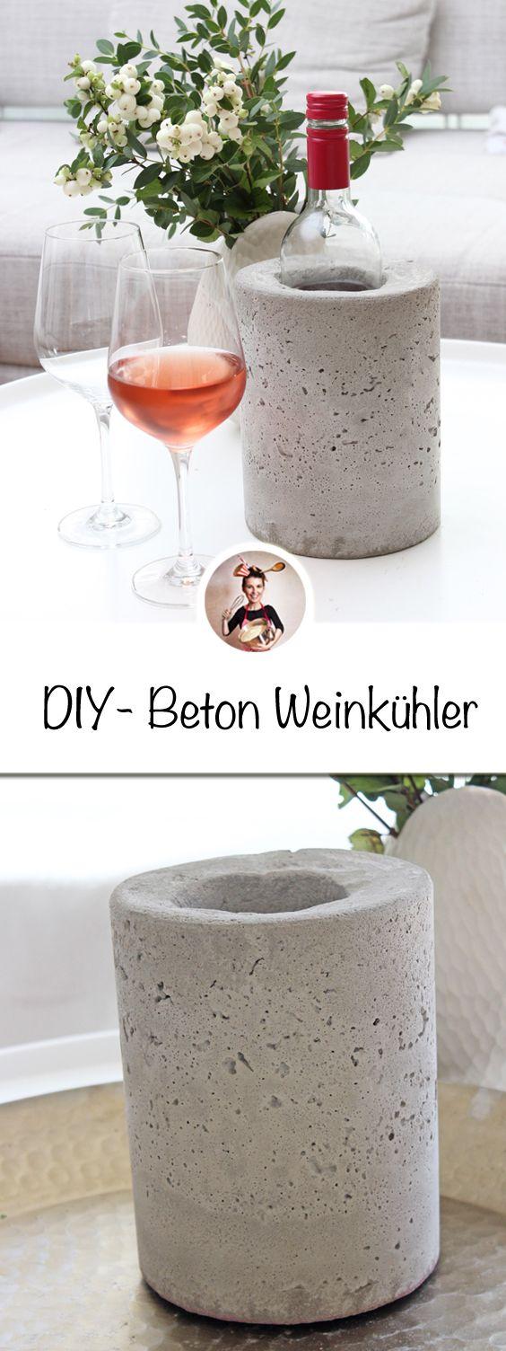 Photo of Damit der Wein schön kühl bleibt, habe ich einen Beton Weinkühler gemacht. Wa …