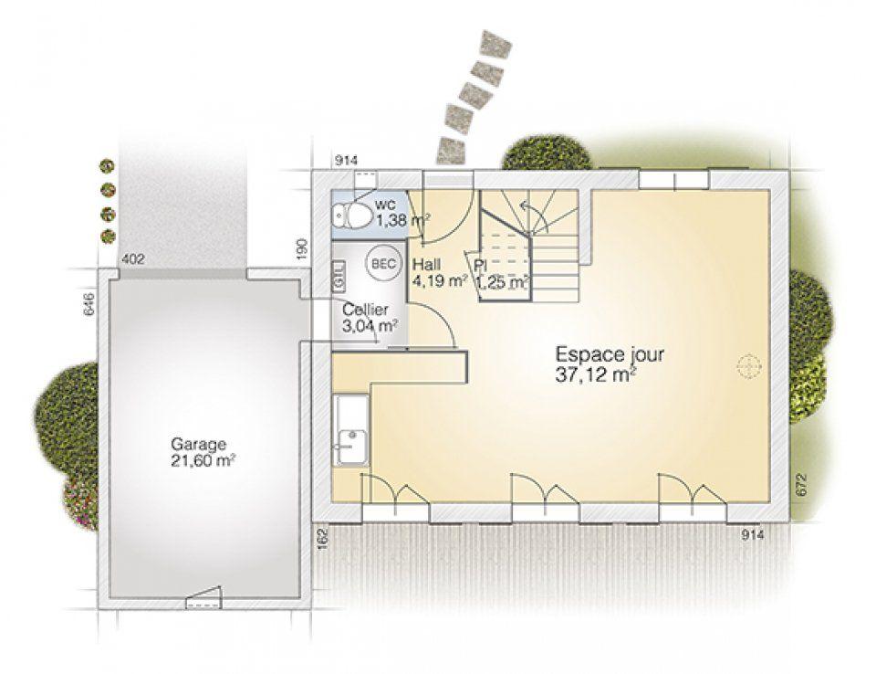 Plan maison neuve à construire - Maisons France Confort Saphir 95